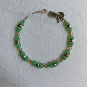 Green Alex and Ani beaded bracelet